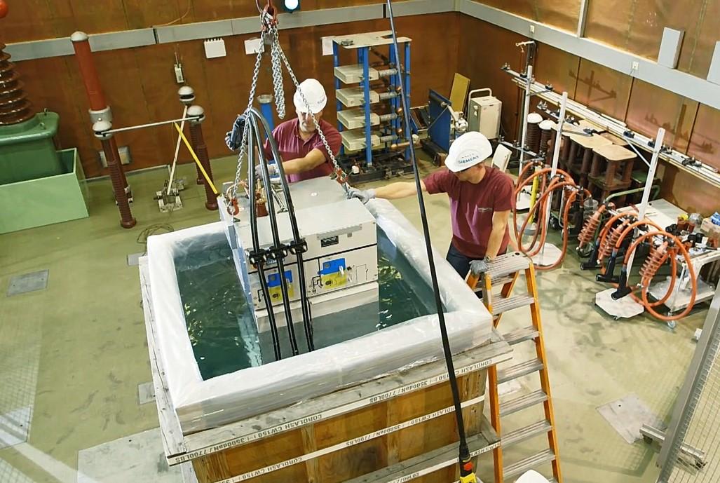 Produktvideo Siemens GIS Unterwassertest