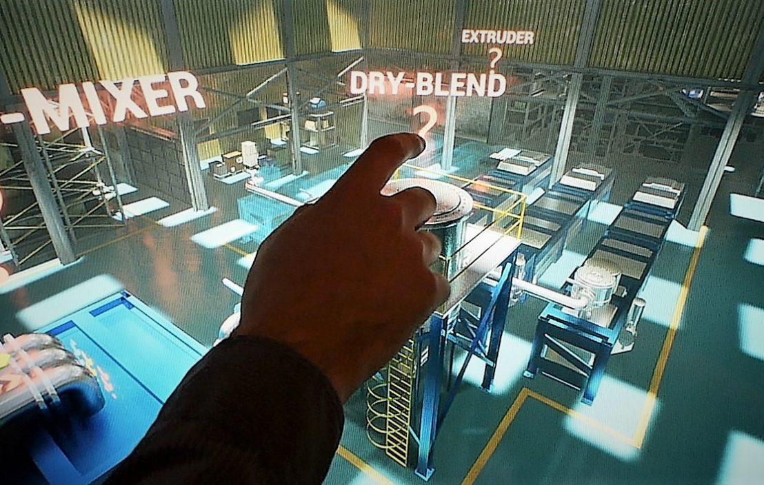 VR Fabrik Touchscreen